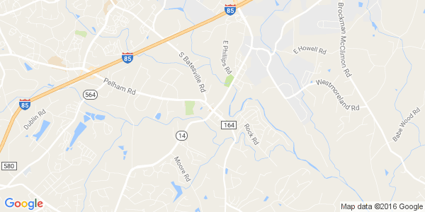 Google Map of 8595 Pelham Road, Suite 400, Greenville, SC 29615